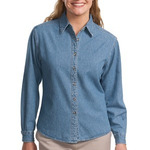 Ladies Long Sleeve Denim Shirt